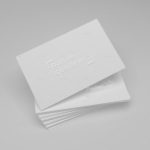 The Tactile Advantage of Embossed Business Cards & Stationery